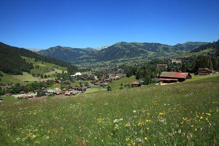 Village of Gstaad Stock Photo