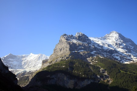 eiger: Eiger mountain and gross Fiescherhorn