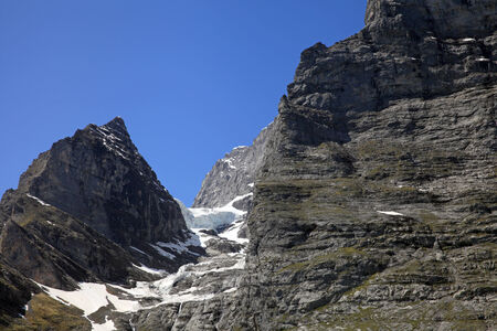 eiger: East wall of Eiger mountain in the area of Grindelwald