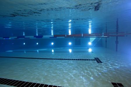 submersion: Indoor swimming pool underwater