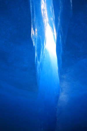 crevasse: Ice crevasse in the glacier Stock Photo
