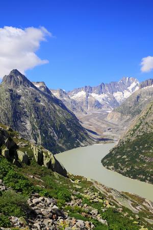 ice dam: Lake of Grimsel and glacier of Unteraar