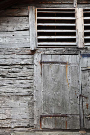discreet: Old wood of cowshed
