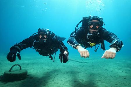 Professional scuba divers