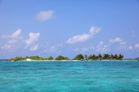 uninhabited: Small tropical Island of the Maldives