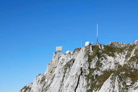 Radar station on Mount Pilatus in the swiss alps, Switzerland