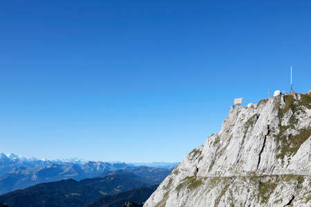 Radar station on Mount Pilatus in the swiss alps, Switzerland
