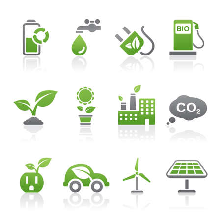 bio fuel: Eco icons Illustration