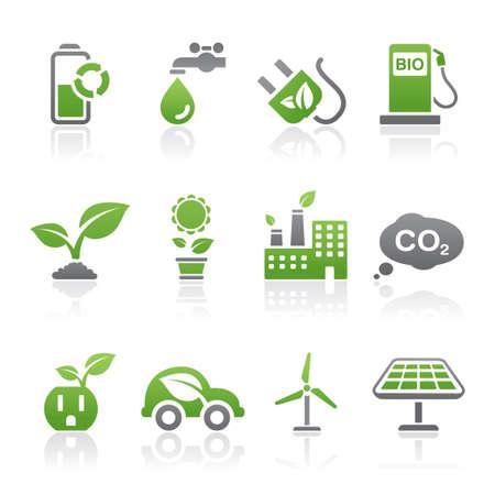 co2: Eco icons Illustration