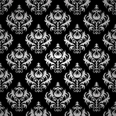 paperhanging: Seamless damask pattern