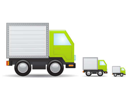 toy truck: Green truck icon Illustration
