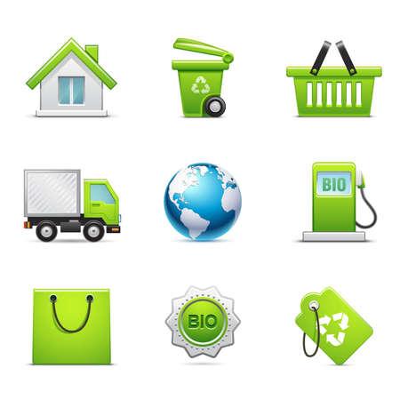 Environmental icons Illustration