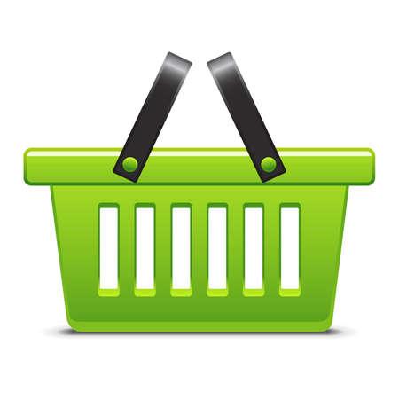 košík: Zelená ikona košík