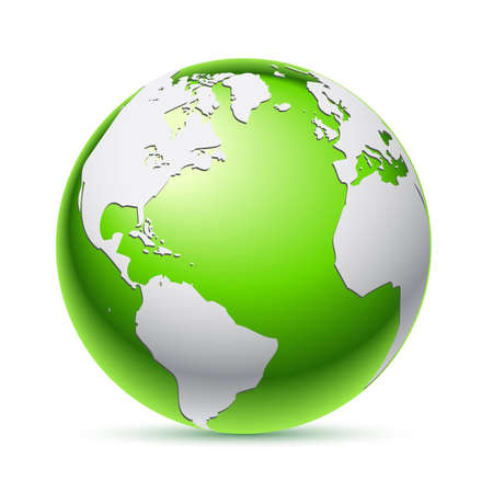 Green planet icon Illustration