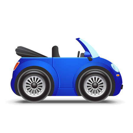 Blue cabriolet icon Vector