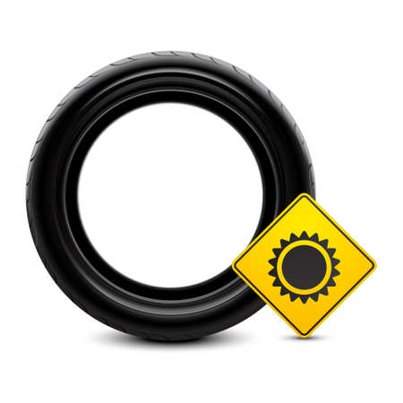 Summer tire icon Stock Vector - 11659761