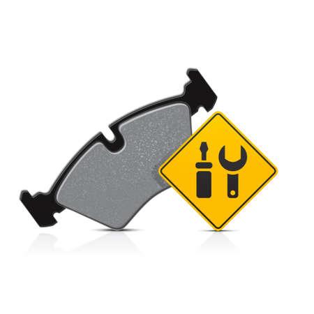 samochód klocek hamulcowy serwis ikona Ilustracje wektorowe