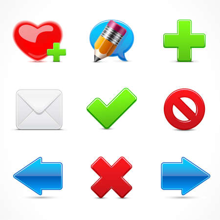 Iconos Web Ilustración de vector