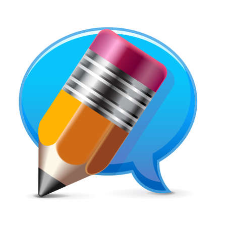 Comment writing icon Illustration