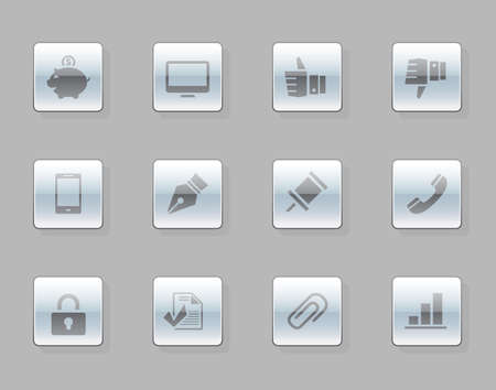 Office icon set Illustration