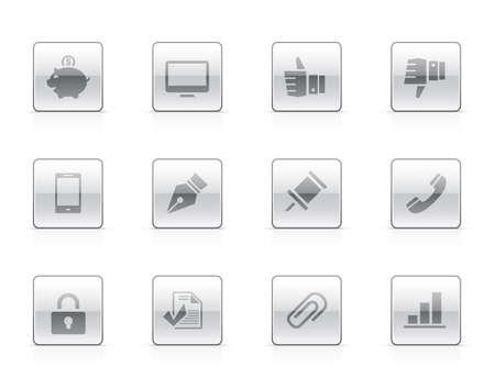 Office icon set Illustration
