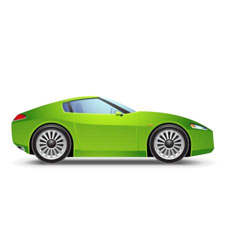 carro caricatura: Green Sport car el icono