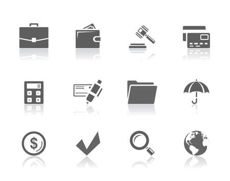 Office and finance icon set
