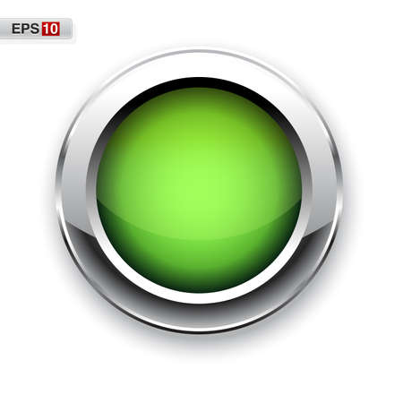 Green glossy button eps10 Illustration