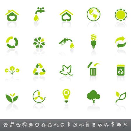 ahorrar agua: Iconos del medio ambiente
