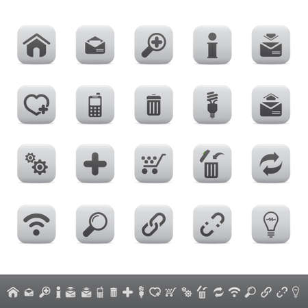 web mail: Web icon set