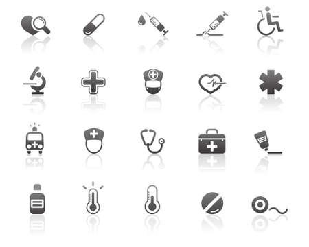 sickness: M�dicos y de salud iconos de atenci�n