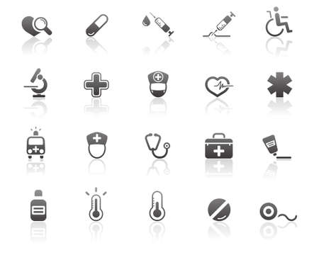 Medical and Health care Icons Stock Vector - 11657850