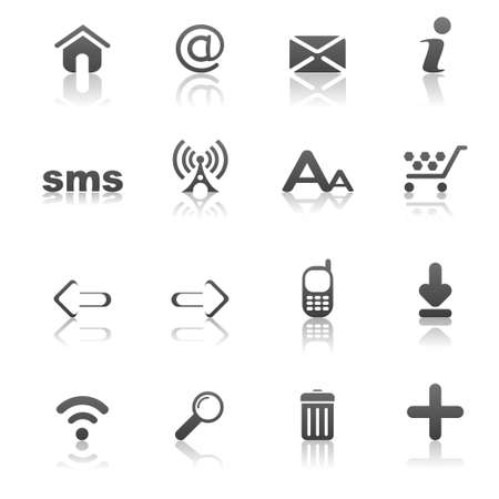 communications tower: web icons
