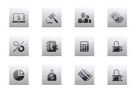 e auction: Finance and banking icons