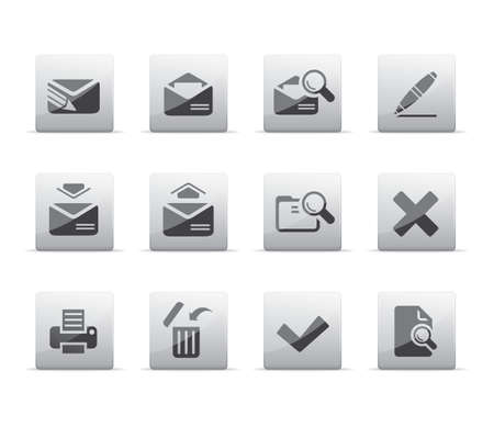 Mail icons Illustration