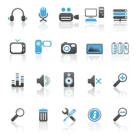 delete: Multimedia icons