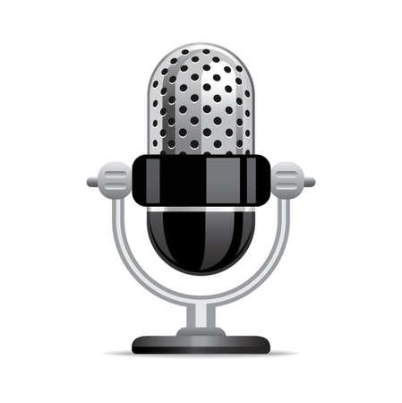 radio button: Microfono icona Vettoriali