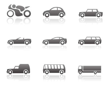 small car: Transportation icon set Illustration