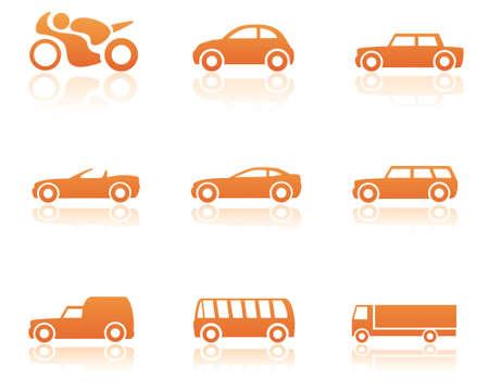 Transportation icon set Vecteurs