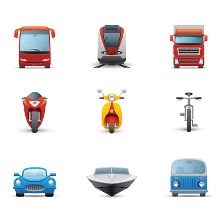 mini bus: Transportation icon Illustration