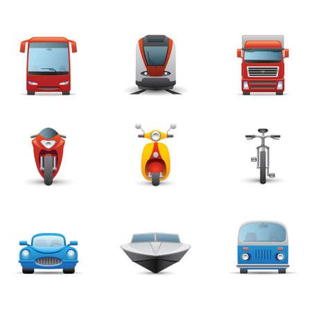 transportation icons: Transportation icon Illustration