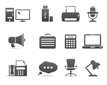 monitore: Office-und Business-Ikonen Illustration