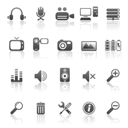 Media and computer icons
