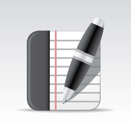 Notepad icon Illustration