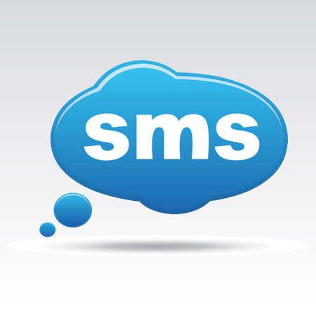 SMS sign icon Illustration