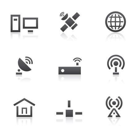 rss sign: Global communication icons