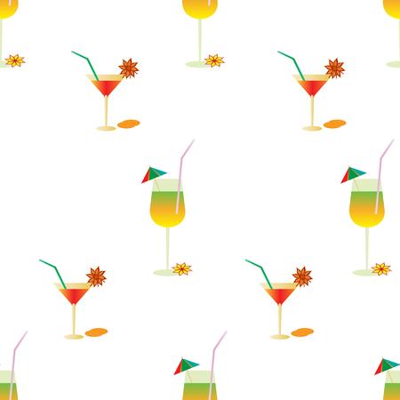 vivacity: Summer pattern with cocktails Illustration