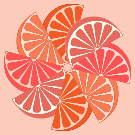 orange slices: Picture of appetizing orange slices on a white background