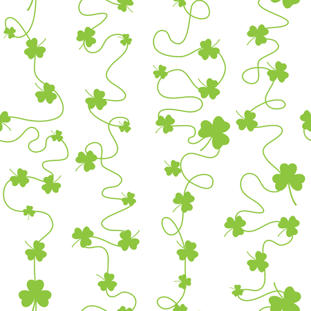 patric: Nice pattern with clover leaves with lines on white background