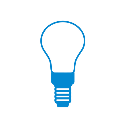 electric bulb: Stylized icon of light bulb on white background
